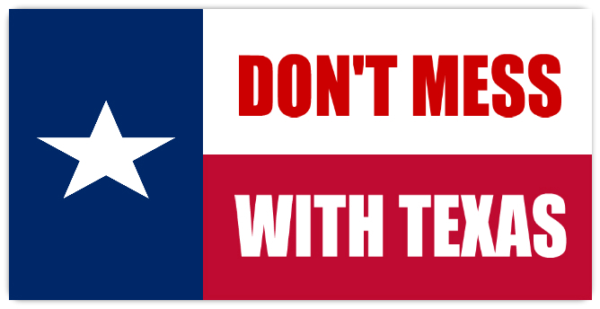 Originally started by the Highways dept. to try and control littering, this slogan now appears in lots of stores, shirts, etc. not sure what we expected of Texas, but the people are very friendly and helpful.