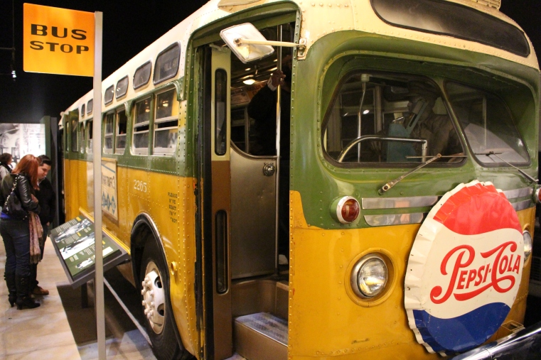 Replica of the bus Rosa Parks refused to get out of her seat. Montgomery, Alabama