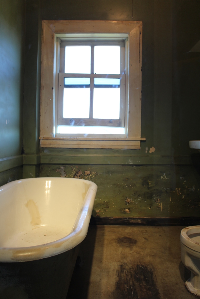This is the Window the assassin fired the fatal shot from. A shell casing was found in the bathtub.