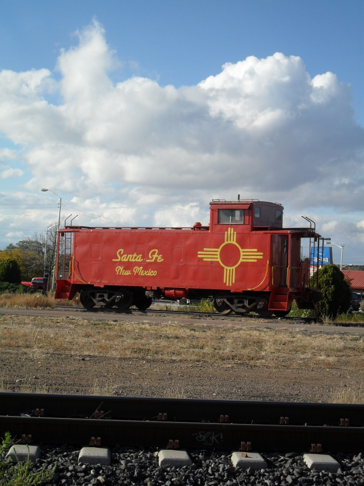 Had to throw in the Caboose. Santa Fe is a major railway town. Burlington Northern Santa Fe Rail ring a bell???   There are massive trains everywhere in New Mexico