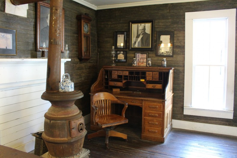 Jack Daniels office, unchanged since his death.