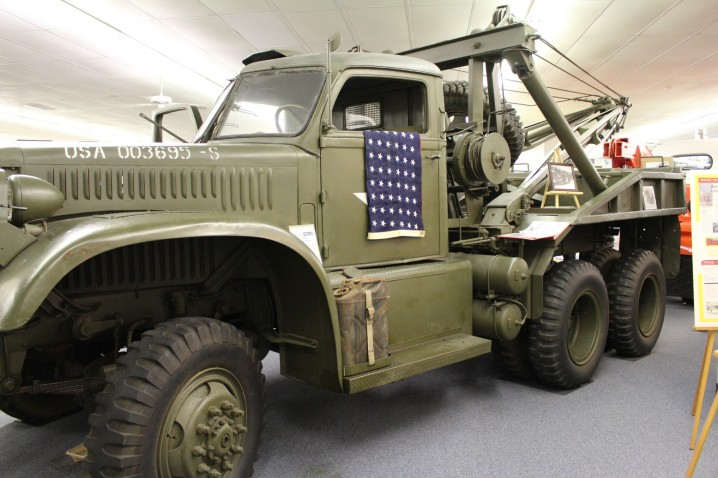 Used in WWII on the beaches of Normandy. This truck was given to the French after the war, and made its way back to Chattanooga, where it was build in the 1940's.  (Miller industries, a massive tow truck wrecker builder is based in Chattanooga, and nearby Ooltewah, TN