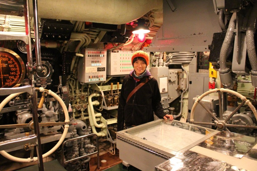 Submarine main control room