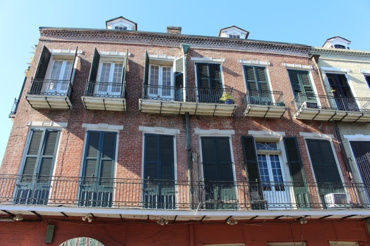 French Quarter Buildings were beautiful, with balconies.