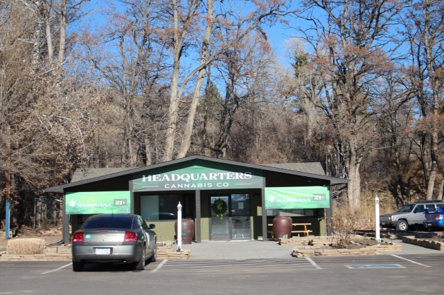 Back on the road, we passed a Legal Marijuana Store. Anyone can walk in for some weed, no prescription required in Colorado. (we didn't stop)