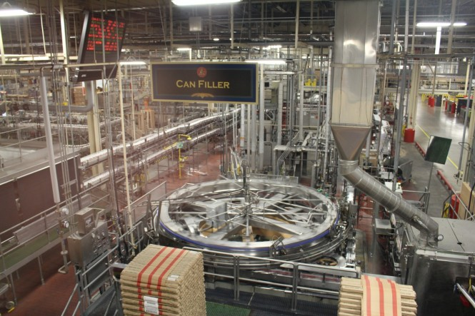 This machine can fill and seal 33 cans per SECOND!. It was amazing to see it in action.
