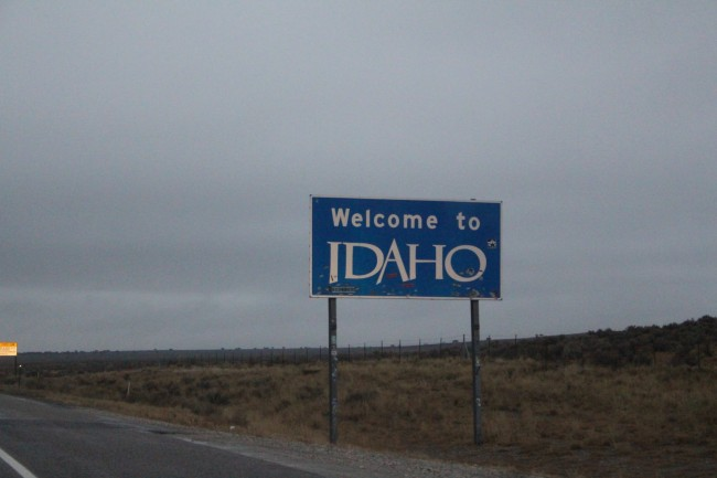 Thank you Idaho for washing all of the dirt and salt of the car from Kansas, Colorado and Wyoming. Nothing but extreme rain across the entire state.