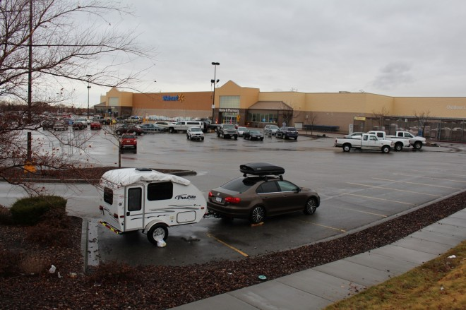 One of out first Walmart's at the start of our trip is also our last. Mountain Home, Idaho.