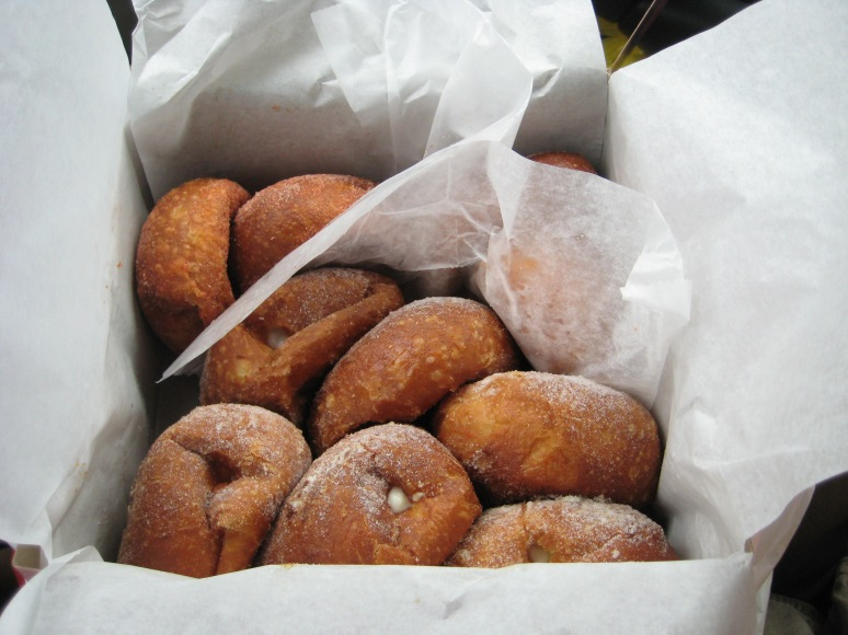 Malasadas is a Portuguese donut, filled with Macadamia and Coconut.
