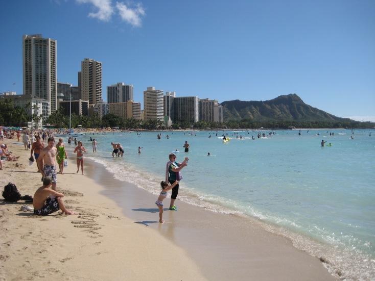 .Waikiki Beach