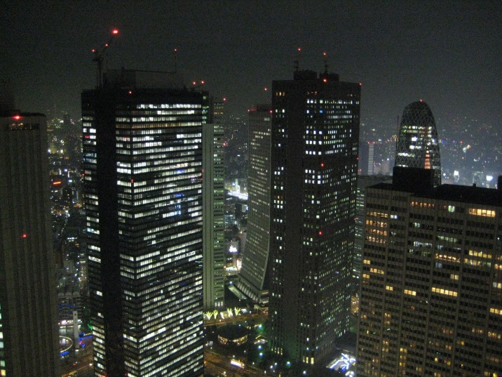 last stop of the night. At the 296M Tokyo City Hall Observatory