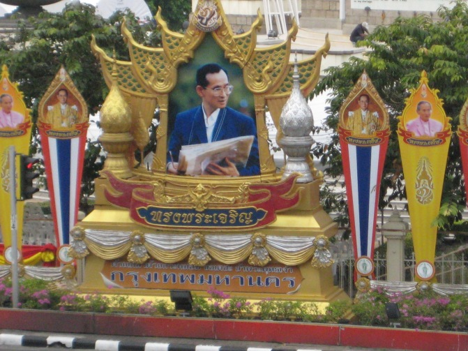 This is the King of Thailand- he is loved by all Thai's and is closer to a god than a king