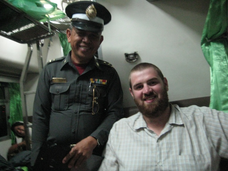 all Thai trains have Railway Police on board, I figured I should make friends early.