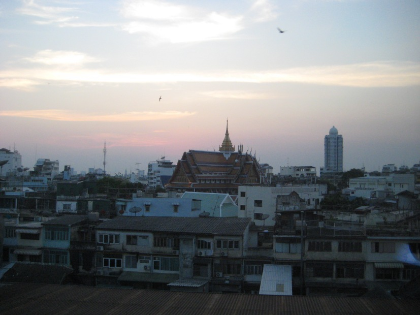 Back in Bangkok for one night- heading to Cambodia tomorrow. This is the view from the hotel