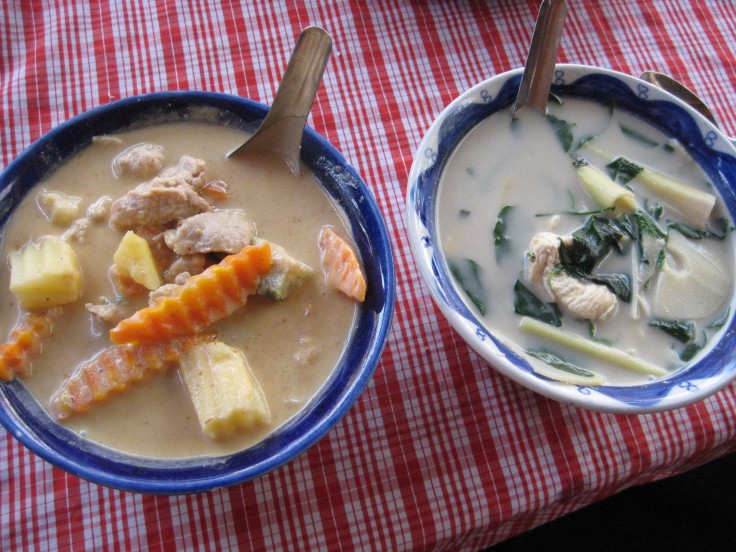 Panang Curry and Bamboo shoot soup