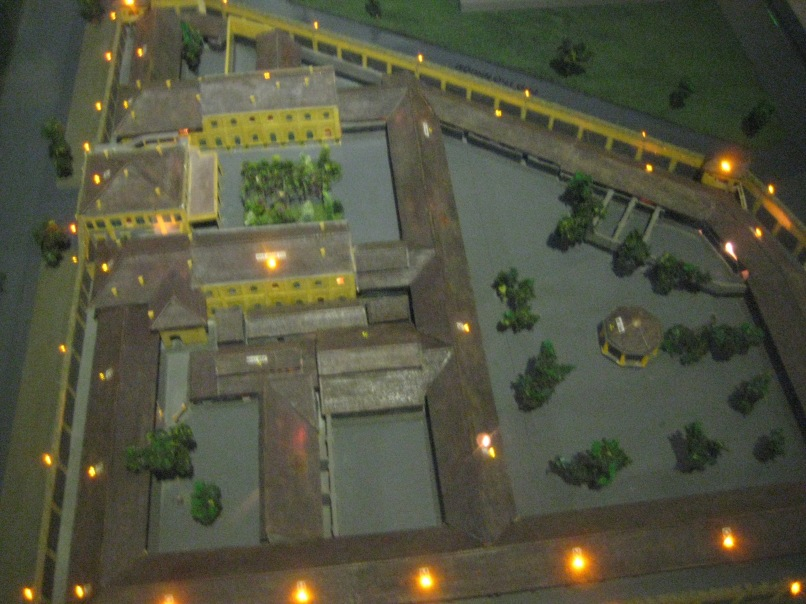 A model of the prison when it was in full operation