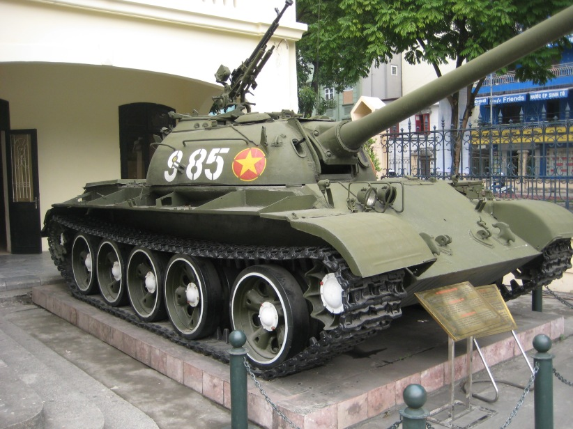 A Soviet built North Vietnamese Army Tank