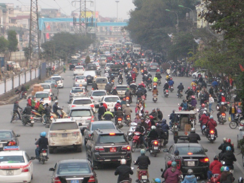 Here is a taste of Hanoi Traffic