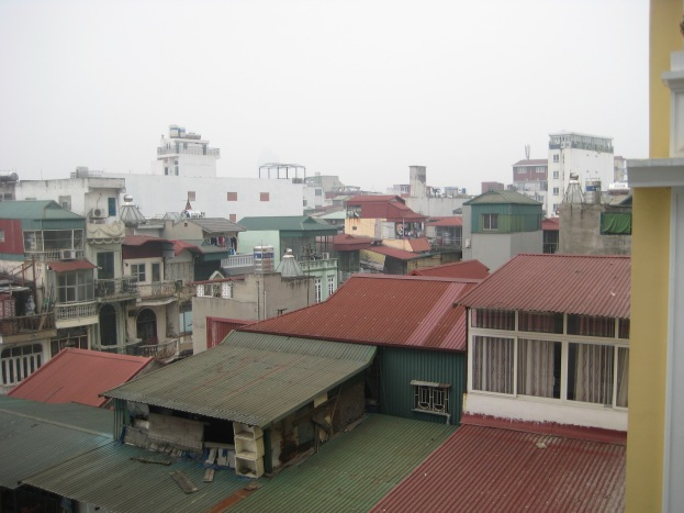 After Ha Long Bay, they put us on the 6th floor at our Hotel, and we had a view this time.