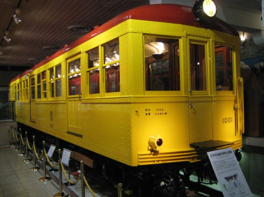 Restored Ginza Line Car 1001. The first car ever to ride the rails in Tokyo. (1927)