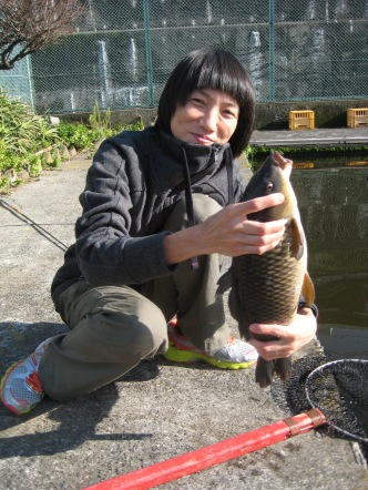 Aya's fish is bigger