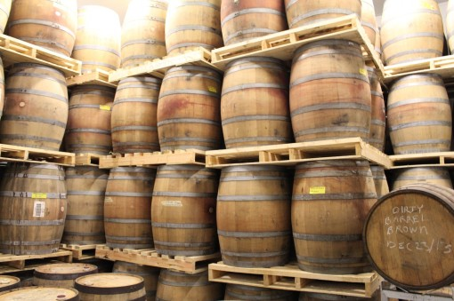 Porter Beer aging in old Jack Daniels Barrels