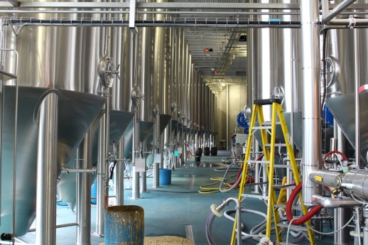 These are all full of beer. Beer stays in these tanks for 6 weeks or longer, depending on the variety.