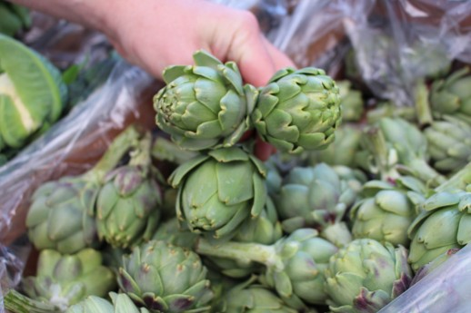 We purchased some artichokes, and quartered them and fried in butter- pretty tasty. But it helps when you get mega fresh produce.