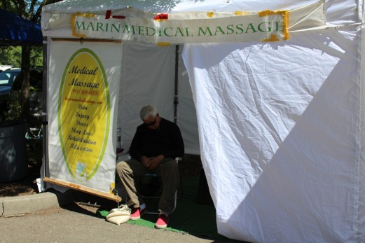 the Market was too much for some people- vendors included. Massage anyone?