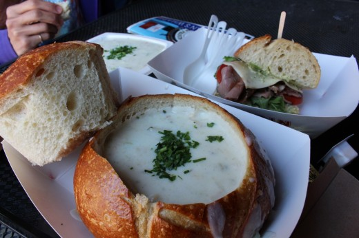 San Fran Sourdough and Clam Chowder