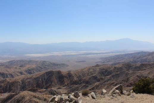 A view of Palm Springs in the distance.