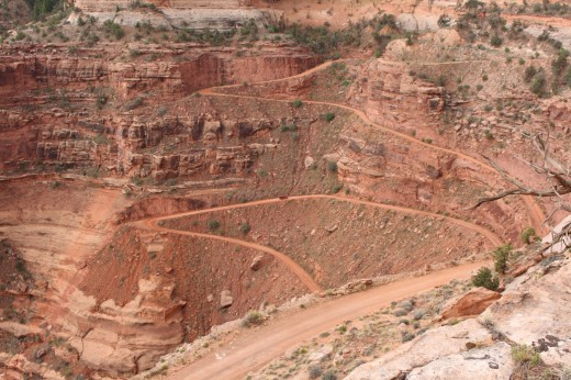 Canyonlands is a 4x4 mecca. Can you see the Jeep?