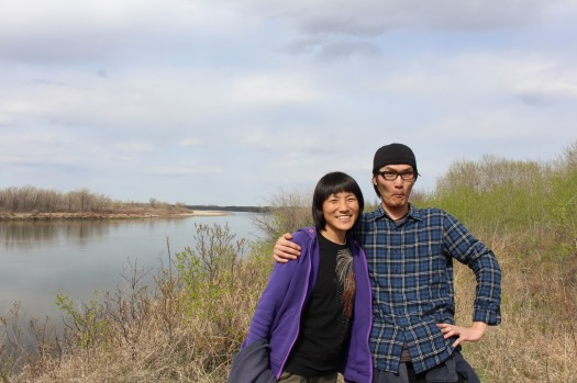 Aya and Shinji, our host