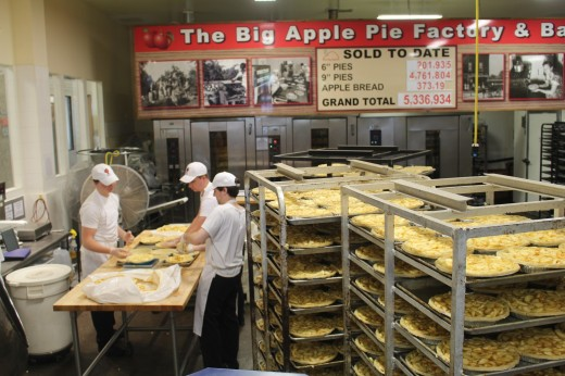 Yeah, its a big deal here, note on the wall they have made about 5.5 Million pies