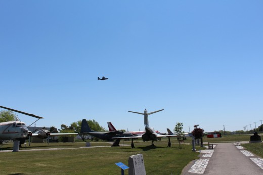 Hurcules taking off from nearby CFB Trenton
