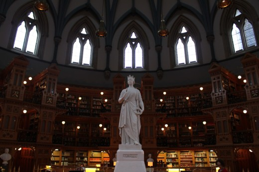 Queen Victoria in the Parliament Library