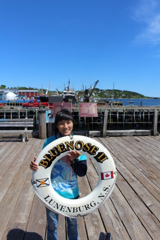 Well the Bluenose was out at sea, but we saw the life ring!