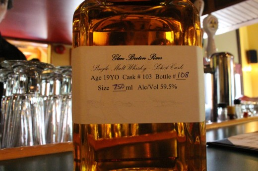 We skipped the tours and invested in a taste of the 19 year old Cask strength Single Malt