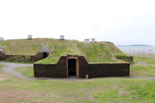 reconstructed Viking building's