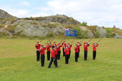 Military training on Signal Hill.