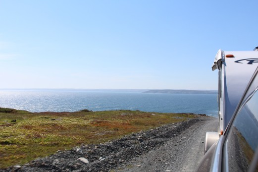 21 KM of gravel road out to Cape Race