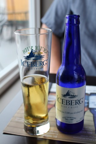 Beer apparently made with Iceberg Water.