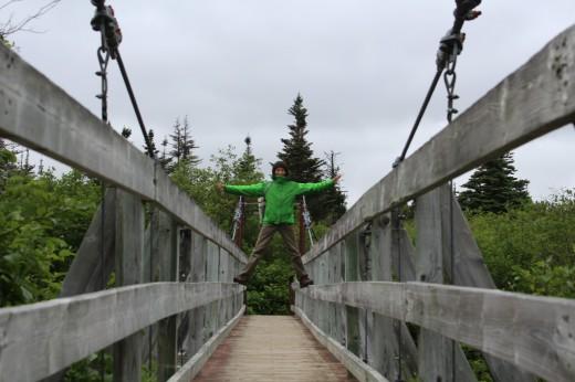 Outport Trail suspension bridge.