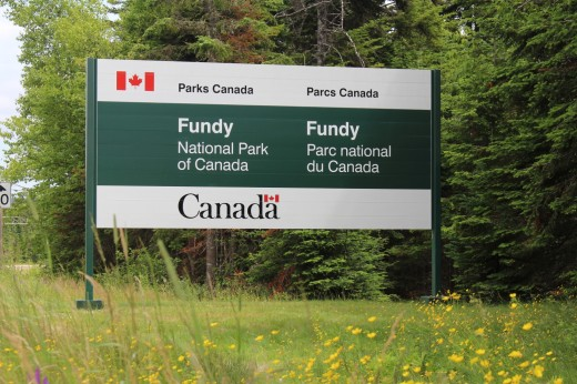 This is the last boring Canadian National Park sign. U.S National parks at least have unique signs