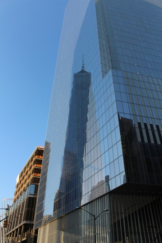 World Trade One reflected on World Trade Four.