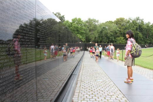 Tens of Thousands of names adorn these granite walls.
