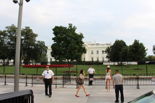 Security was tight around the White House.
