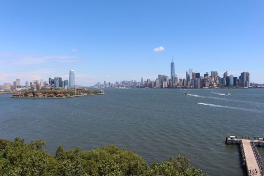 Manhattan and New Jersey from the Statue of Liberty