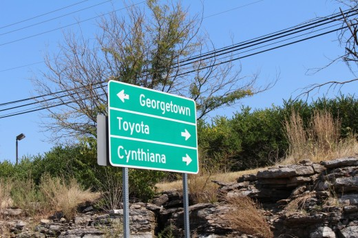 There is no town called Toyota, but the plant is big enough to be its own town.
