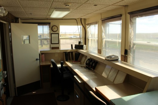 Upstairs control room